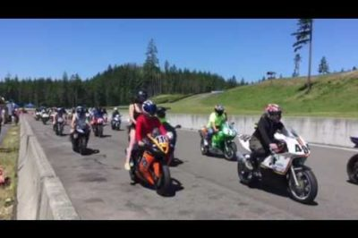 Memorial lap for Kelly Johnson and Nicky Hayden
